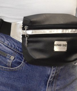 FANNY PACK in Black & Silver