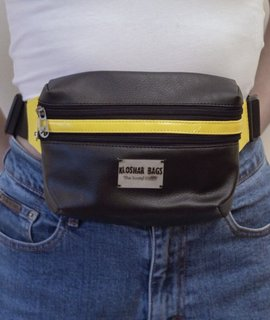 FANNY PACK in Black & Yellow