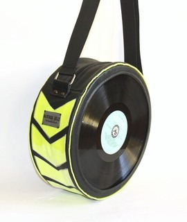 Classic O bag by Kloshar Bags | Black and electric yellow