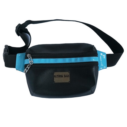 FANNY PACK in Black and Blue