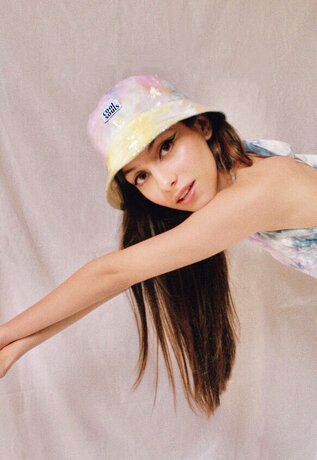 Tie Dyed Sequin Bucket Hat | Collab with Cool Souls