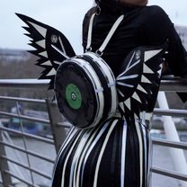 Angel Backpack with wings and 7' vinyl record | REFLECTIVE
